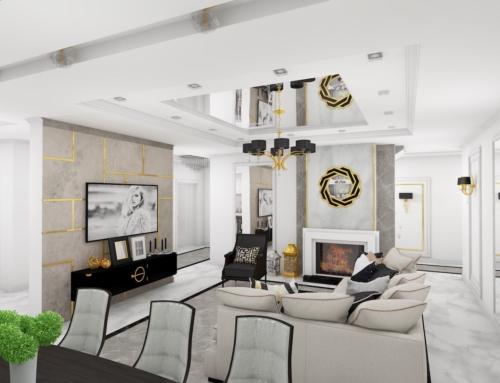 Elegancka rezydencja w złocie